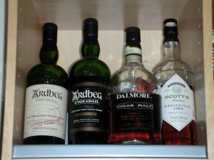 My non-Bruichladdich open whiskies.