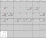 The San Francisco Giants' October 2010 schedule.